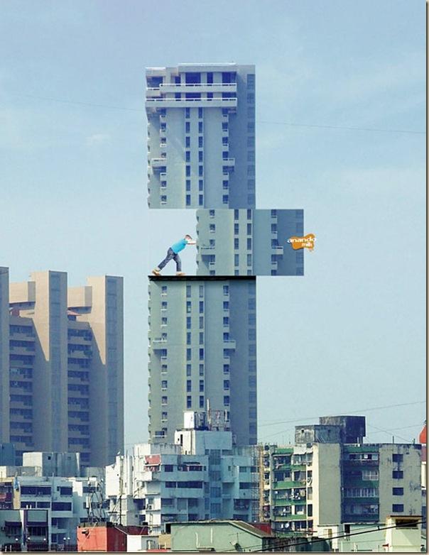 Publicités sur immeubles-anando