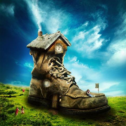 01. Convertir un zapato simple en una casa mágica