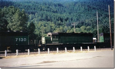 BNSF GP40M #3014 in Skykomish in 2000