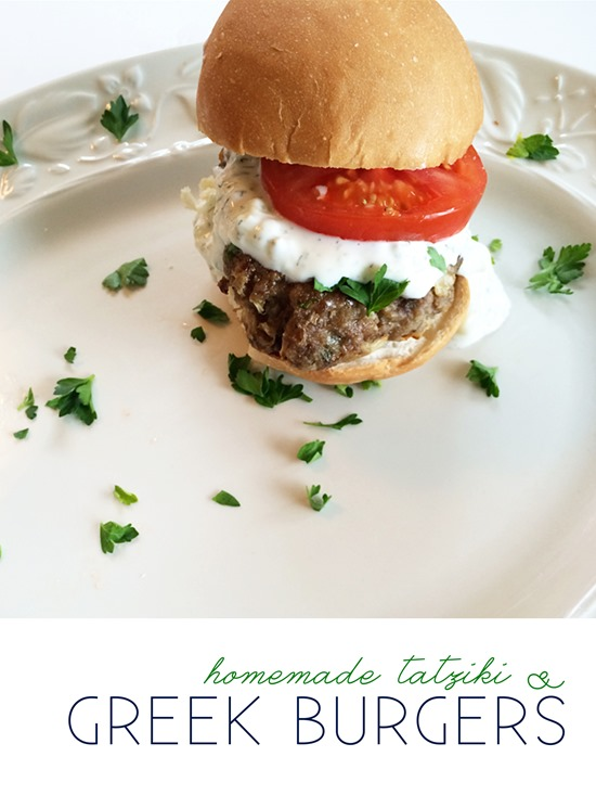 Homemade Greek Burgers with Tatziki | It's All Greek to Me Food Blog Tour #OneYrGreek | Shan Made