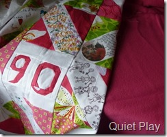Quilt with backing