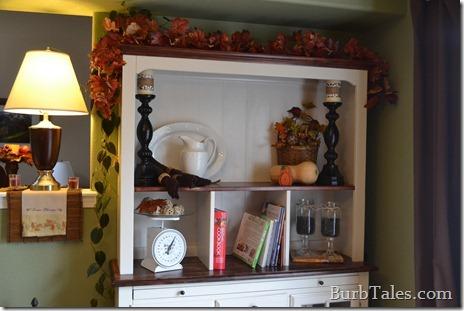 Fall hutch decor