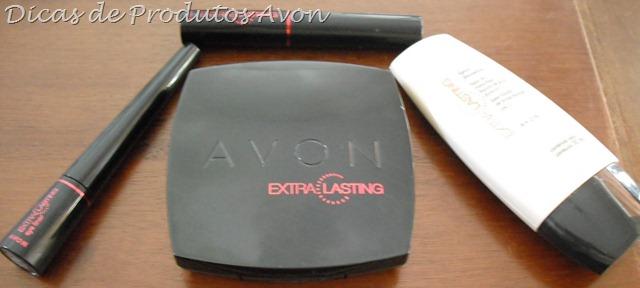 Delineador, Pó, Base, Batom Avon Extra lasting