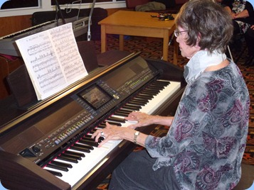 Club Secretary, Colleen Kerr, playing the Clavinova for us with great touch and feel