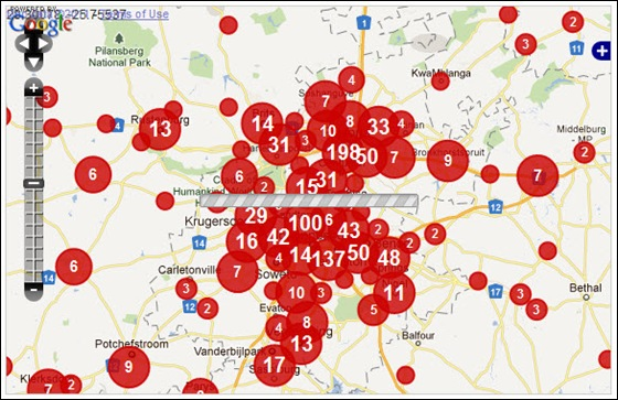 GAUTENG CRIME MAP FARMITRACKER DEC112011
