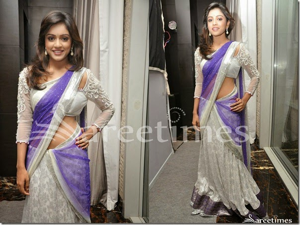 Vitihka_Sheru_White_Blue_Half_Saree