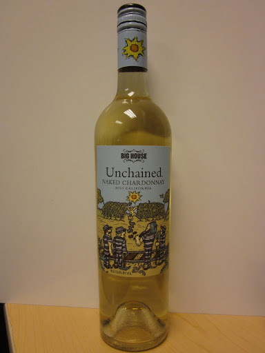 Big House Unchained Naked Chardonnay 2010, California ($9.99)