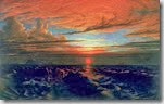 Danby - Sunset at sea after a storm