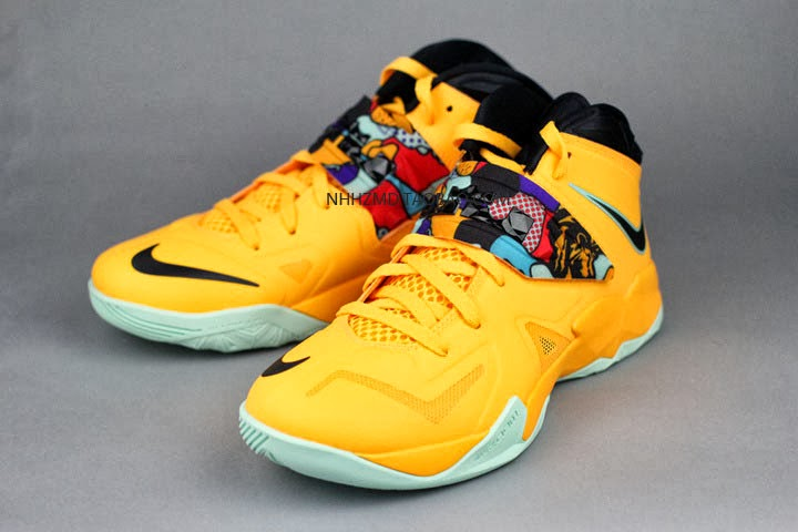 Lebron Soldier 7 Yellow Nike Soldier VII &quot...
