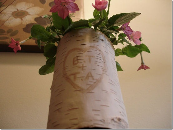 friday feature--spaghetti jar turned birch vase from dont disturb this groove blog