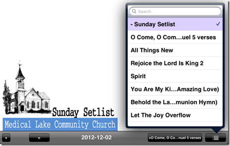 setlist 2012-12-02 unrealBook
