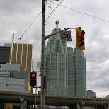 driving on the gardiner in Toronto, Ontario, Canada