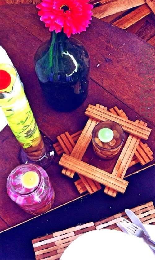 Como fazer decoração com velas flutuantes