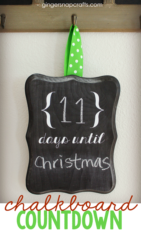 DIY Chalkboard Countdown tutorial from GingerSnapCrafts.com