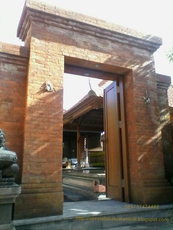 gerbang antik bata ekspose spesialis batu alam bali