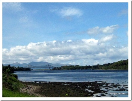 Connel bridge from a distance.