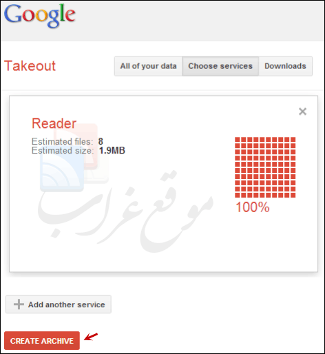 google reader takeouts