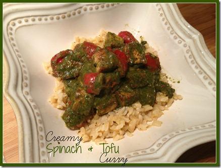 spinach & tofu curry
