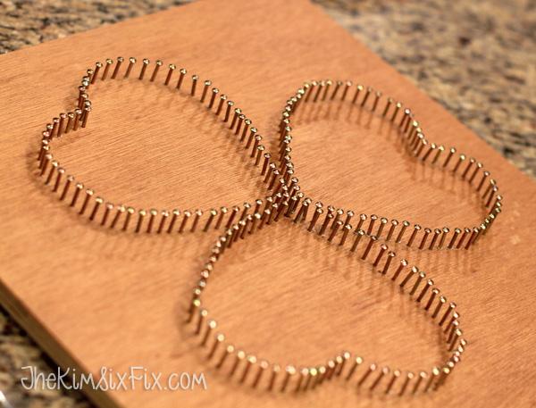 Shamrock string art the kim six fix nails for string art prinsesfo Gallery