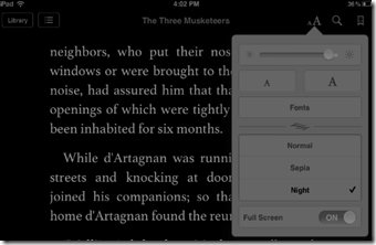 Regolare luminosità in iBooks