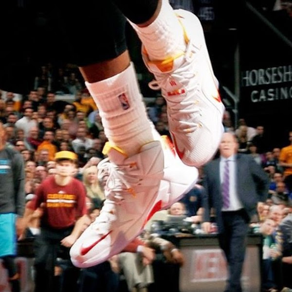 LBJ8217s New Cavs Home Nike LeBron 12 PE Unveiled in Charlotte