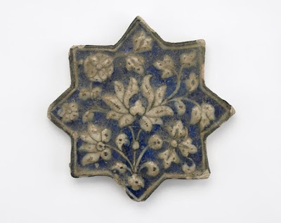 Tile | Origin:  Iran | Period: 14th century  Il-Khanid period | Details:  Not Available | Type: Stone-paste painted underglaze | Size: H: 2.0  W: 20.2  cm | Museum Code: F1904.288 | Photograph and description taken from Freer and the Sackler (Smithsonian) Museums.