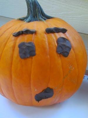Pumpkin Playdough Decorating from Teach Preschool