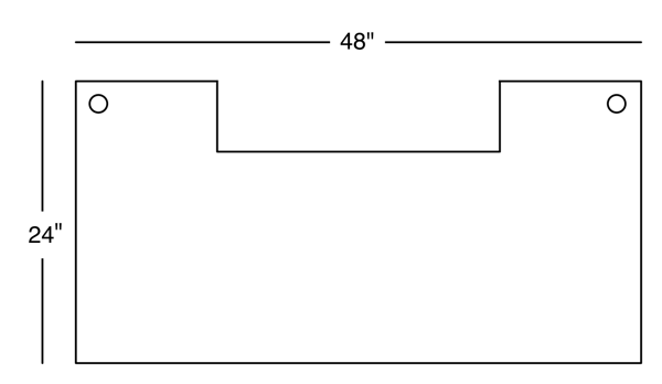 Desk Surface Diagram