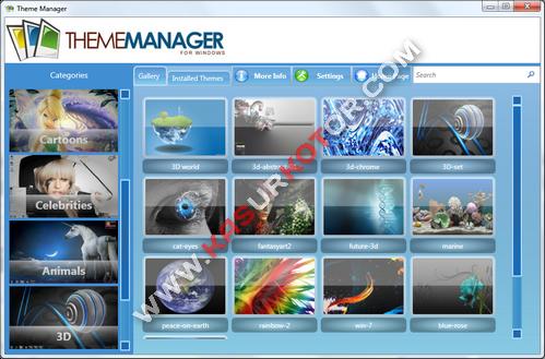 Install Lebih dari 100 Theme untuk Windows 7 - Theme Manager