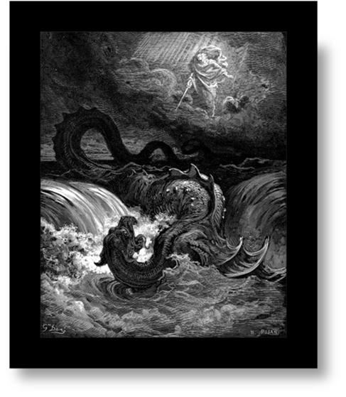 Destruccion de Leviathan, Gustave Doré (1865)