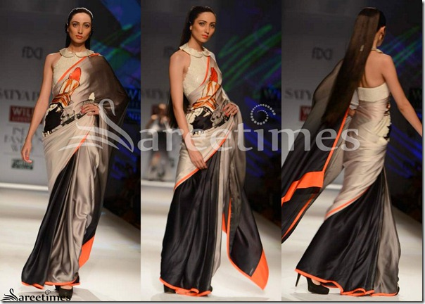 Satya_Paul_Silver_Black_Half_and_Half_Saree
