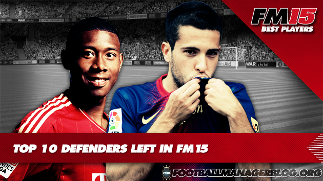 Top 10 Defenders Left in Football Manager 2015