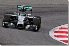 Nico Rosberg nelle prove libere del gran premio d'Austria 2014