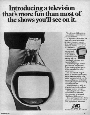 Print advertisment for JVC Videosphere television