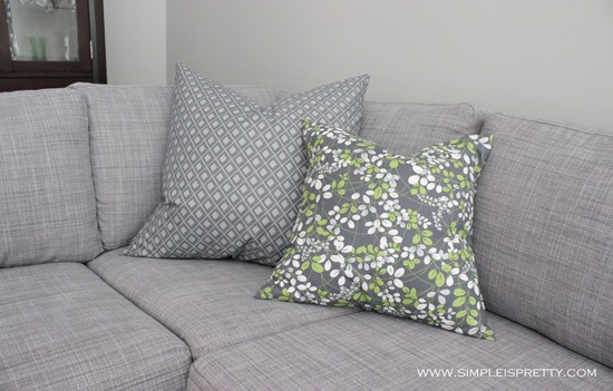 Pillows on Sofa from www.simpleispretty.com