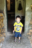 Eidan at the glass making cottage