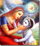 [Krishna looking into Yashoda's mouth]