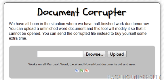Corrupt any Document Easily