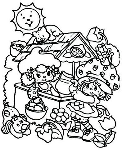 Desenho da Moranguinho colorir