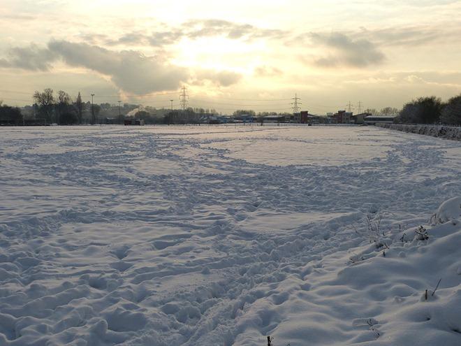 Бирмингем. Зима. Стадион