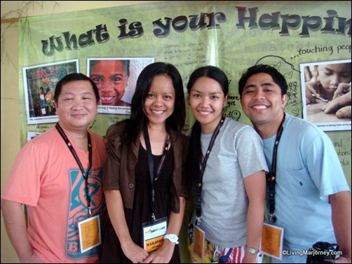 Happiest Pinoy Campers Alwin, Kristelle and Rey (Right to Left)