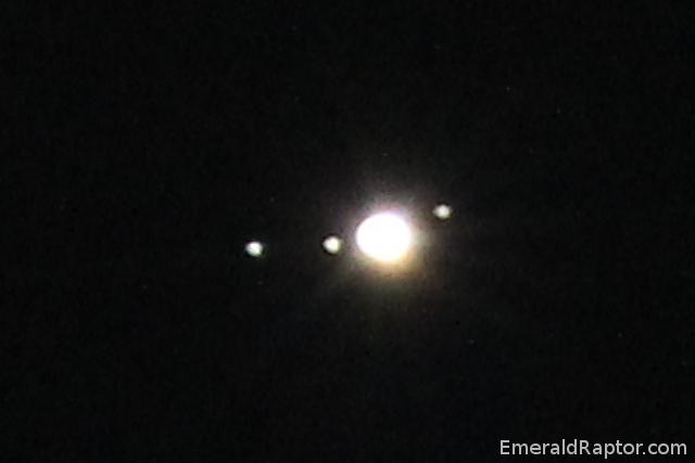 Jupiter og noen galileiske måner