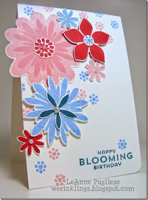 LeAnne Pugliese WeeInklings ColourQ247 FLower Patch Stampin Up