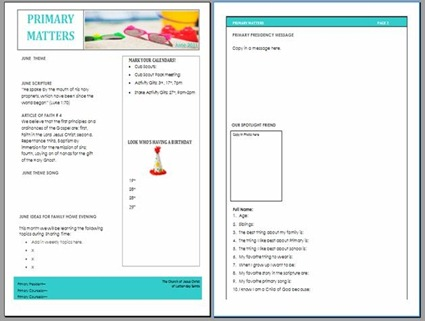 amber s notebook primary newsletter template june