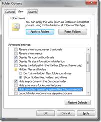 menampilkan hidden files dan folders