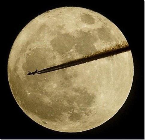 По лунному диску