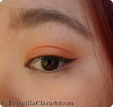 Priscilla peachy makeup look 5_