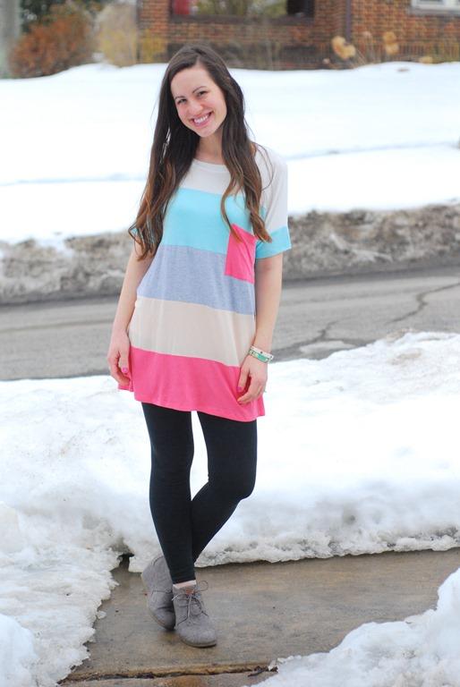 Colorblock Tunic & Leggings
