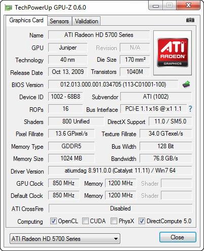 Tampilan TechPowerUp GPU-Z