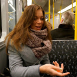 sterre on the train in Berlin, Berlin, Germany